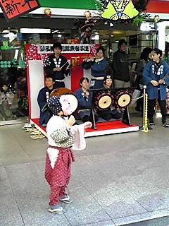 錦東会様の新春獅子舞
