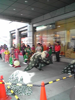 立川高島屋新春獅子舞